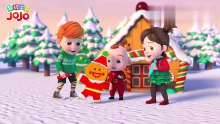超级宝贝:姜饼人在装扮姜饼屋,不小心摔倒了