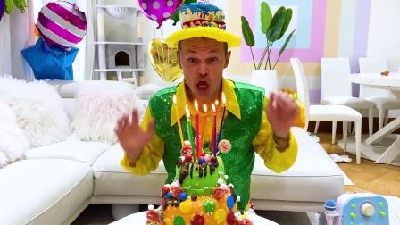 今天是爸爸的生日会!萌娃小可爱们给爸爸准备了惊喜!还有生日蛋糕哦!