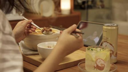 独居少女晚餐大公开 | 辣白菜部队锅+小酒+看剧|可能是有点治愈的vlog