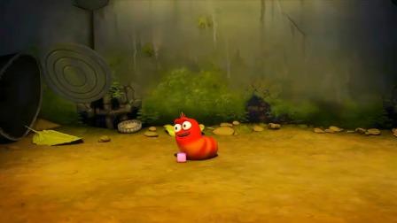 爆笑虫子:红虫被嵌入布丁,黄虫想要救它,努力地吃掉了布丁