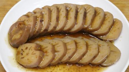 红糖桂花糯米藕的做法,香甜软糯,清淡不腻口,招待客人很有面子