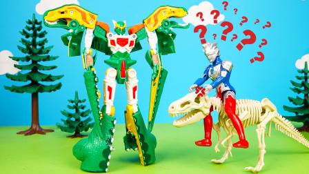 贝利亚挖到恐龙化石,泽塔竟然把它变成了爆龙战车霸王龙