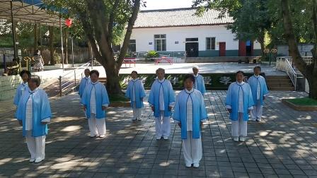 2020年8月27日,邹老师太极拳队表演28式综合太极拳