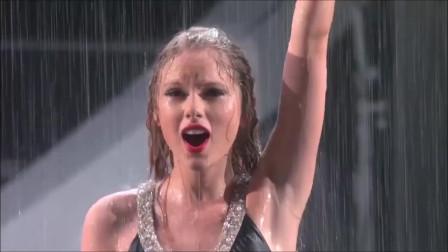 TaylorSwift淋雨的现场,有才又有颜