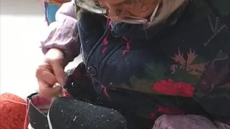90岁传统手艺人上鞋,这技术一般人学不会,真是高手在民间!