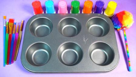 趣味玩具 调色盘里的水晶泥变成可爱玩具了!