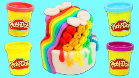 培乐多彩泥创意DIY生日蛋糕玩具,循环创意激发宝宝色彩创造力!