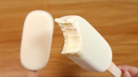 不用电子秤不用打发,搅一搅就能成功的牛奶雪糕!