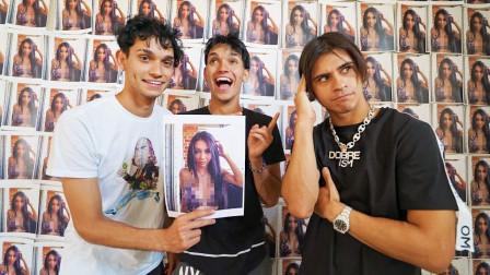 双胞胎兄弟将500张二嫂的照片贴满房间!网友:二哥不会心痛吗?