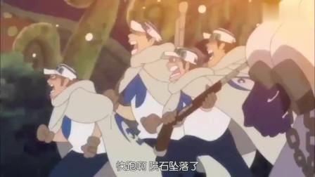 海贼:海军大将藤虎的实力,AOE范围性爆炸伤害