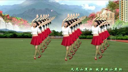 广场舞《又见山里红》简单民族风, 你是心中最真的梦