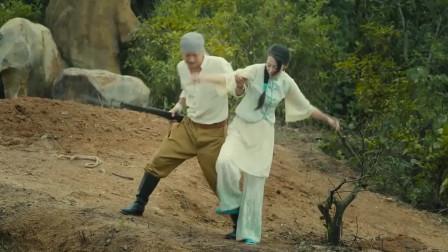日军军官推女人下山崖被杀死,丈夫愤怒复仇,找小日本报仇