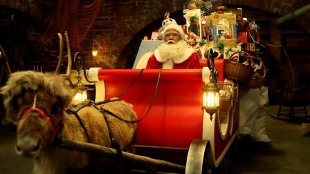 下水道里的流浪汉,原来是圣诞老人,圣诞节出动发礼物