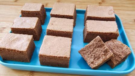 【巧克力古早蛋糕】:烫面水浴法,最大程度地做到细腻和温润绵软