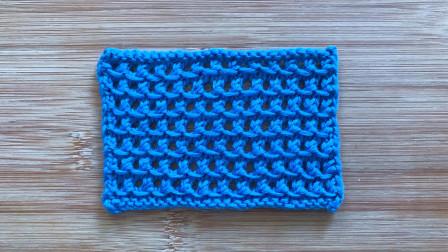 一款精致的棒针花样,简洁立体,简单易学,织秋款针织衫很漂亮图解视频