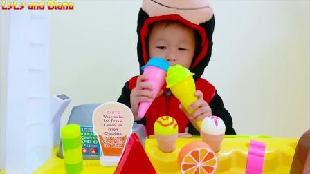 国外儿童时尚,萌宝开了个冰欺凌店,快来看看你喜欢哪种冰淇凌吧