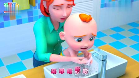 超级宝贝jojo:宝宝不小心被烫伤了,妈妈看到了,赶紧去包扎!