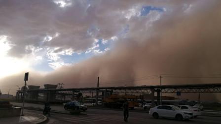 遮天蔽日!内蒙古阿拉善现超强沙尘暴,巨型沙墙淹没蓝天