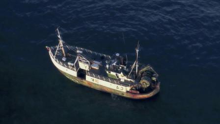渔船驶入禁区,本以为捞到的是大鱼,不料捞到的却是巨型海怪
