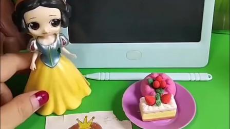 宝贝益智:白雪给王子做了生日蛋糕和画像,贝儿却告诉王子是自己做的,你说贝儿这样做对吗?