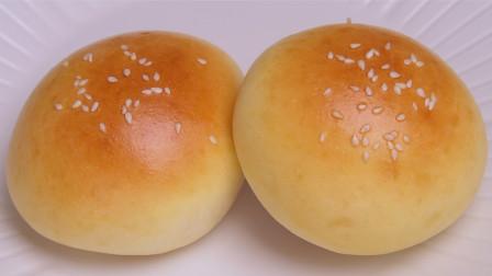 超简单快手,柔软拉丝,只需1次发酵的奶香小餐包,营养美味无添加
