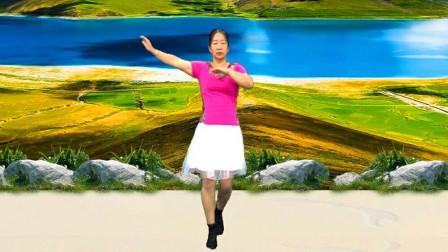 宇美广场舞原创《老地方》正、背面演示及口令教学