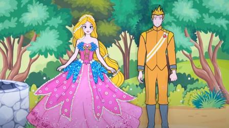 创意剪纸手工:长发公主利用长发优势拯救王子,最后收获完美爱情