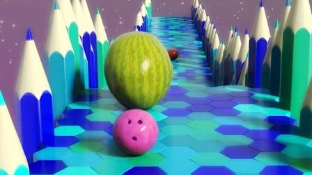 保龄球可以碰到苹果、香蕉、李子等水果吗? 风渡来了