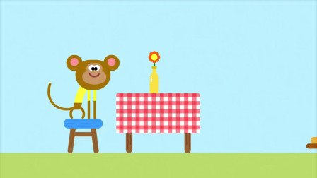 《嗨道奇第二季》小猴子很喜欢吃香蕉披萨!