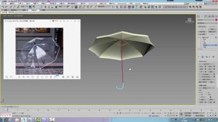 3dmax建模教程 雨伞建模实例效果图建模