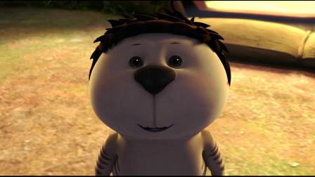 熊大叔在镜子前自言自语,这让啦啦非常费解!啦啦听到雨果回来很开心
