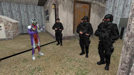 迪迦奥特曼在密室遇到黑衣人怎么害怕了呢?