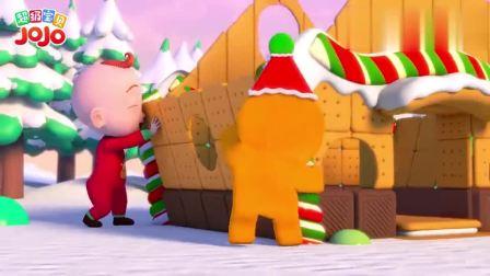 超级宝贝:圣诞姜饼屋,拿起饼干拼一拼,可爱姜饼屋就要完成