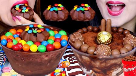 """""""巧克力蛋糕、麦丽素、棉花糖、彩虹糖、巧克力"""",听不一样的咀嚼音"""