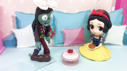 僵尸公主让白雪吃蛋糕,昏睡一整天,使她不能与王子相见