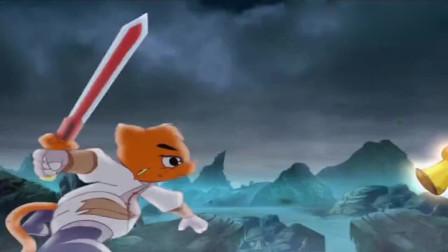 虹猫仗剑走天涯:三郎得到了晶石的力量,危急时刻,五剑合璧