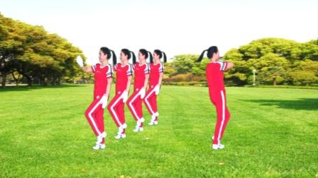 河口轻舞飞扬健身操第二十套第一节正背面教学演示