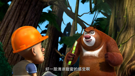 熊出没:光头强心眼真多,自己想吃甘蔗,骗大家都来给他种甘蔗