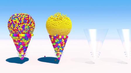 七彩圆形圈圈棒棒糖和纸杯蛋糕卡通视频,孩子爱看还能学习颜色英语