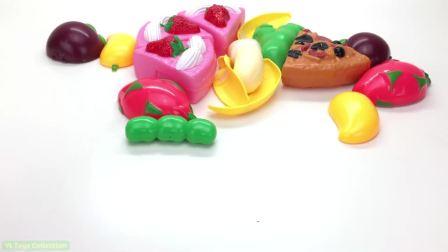国外儿童时尚,比萨饼和蛋糕的水果和蔬菜的名称,太厉害了