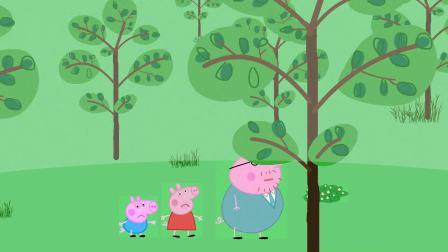 佩奇乔治出门遇到大雾天气,猪爸爸带着他们去公园结果迷路了