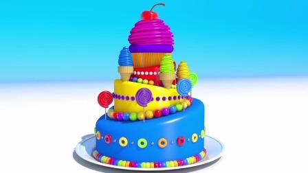 棒棒糖,冰淇淋,马分蛋糕,宝宝最爱看的卡通视频,学颜色英语