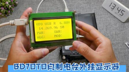 网友给小汪寄来一个电台外接显示器,插上就能显示丰富的频率参数