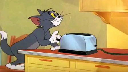 猫和老鼠-汤姆用桌子挡住洞口,把金鱼放进了高压锅里