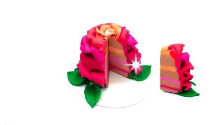 亲子手工diy之制作玫瑰花蛋糕
