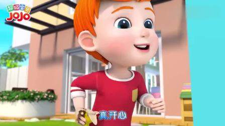 超级宝贝JOJO:妈妈踩到香蕉皮,一盘子的杯子蛋糕,被摔没了
