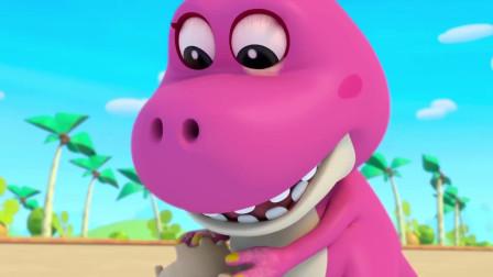 恐龙世界:小恐龙眼睛里进了东西,医生快来帮帮他吧