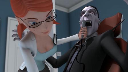 吸血鬼遇见漂亮女医生,刚镶了大金牙,就被拍碎了
