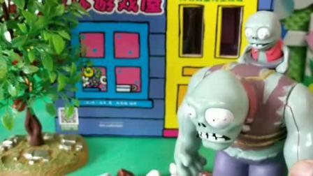 小猪佩奇玩具:乔治和大头儿子正在玩玩具,怪兽来抓他俩