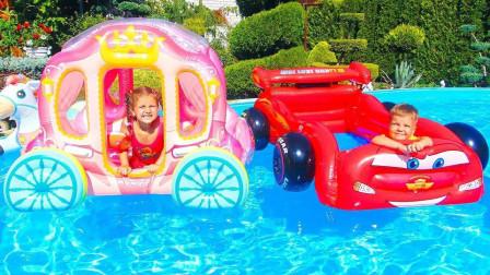 萌宝玩具故事:好奇怪!小萝莉是如何在泳池里制作爆米花的?